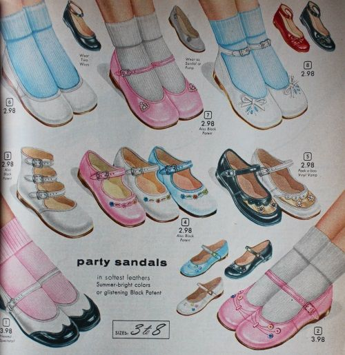 1950s girls mary jane shoes