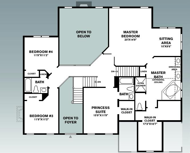 Dream house floorplan second floor house home others for Plan out your room