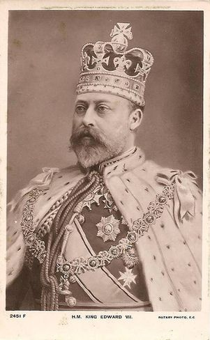 King Edward VII wearing Saint Edward's Crown