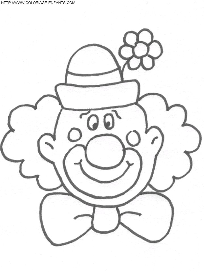 Coloriage Clown ? Imprimer | Colorier Enfants