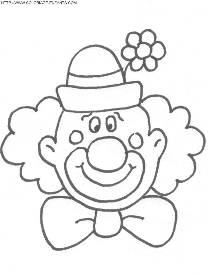 Coloriage Clown ? Imprimer | Colorier Enfants