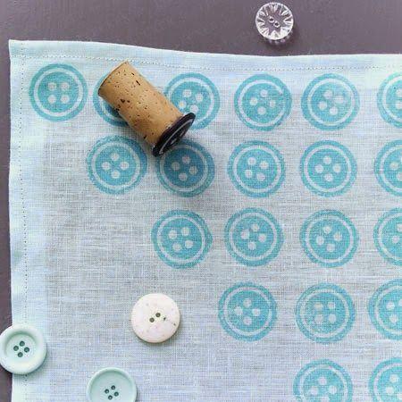 Faça Você Mesmo - Estampas para tecido com carimbos: