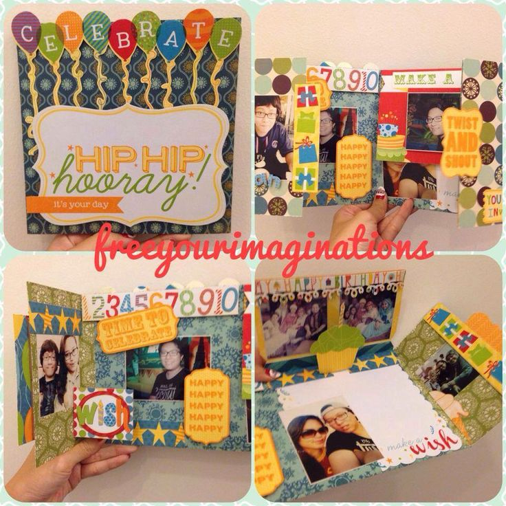 Fun way to say happy birthday #handmadegift #scrapbook #greetingcards #papercraft #giftideas
