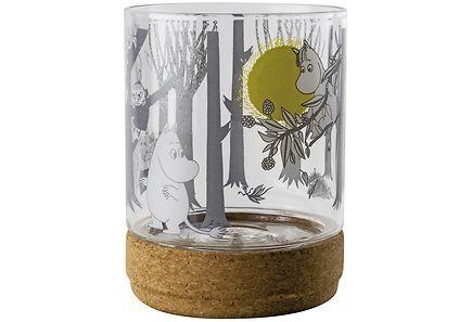 Muurla Muumi kynttilälyhty/purkki korkkialustalla 13cm - Prisma verkkokauppa