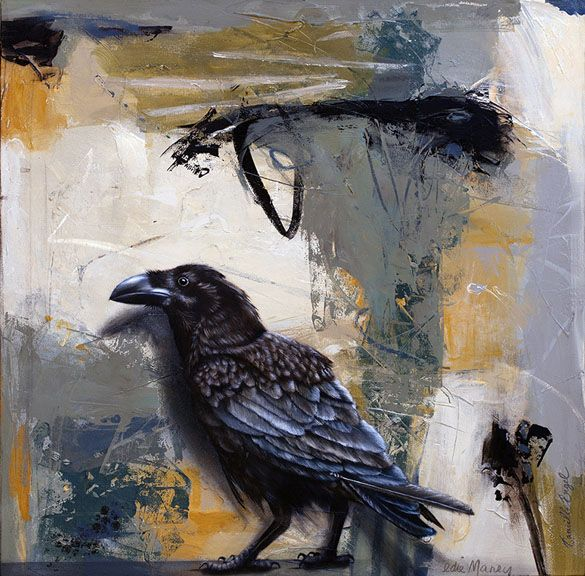 Abstract Bird Paintings On Canvas