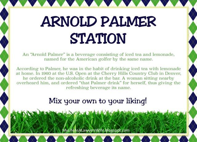 My Life as a Lawyer's Wife: E.J. is a Hole in ONE!: Golf-Themed First Birthday Party - Arnold Palmer Station