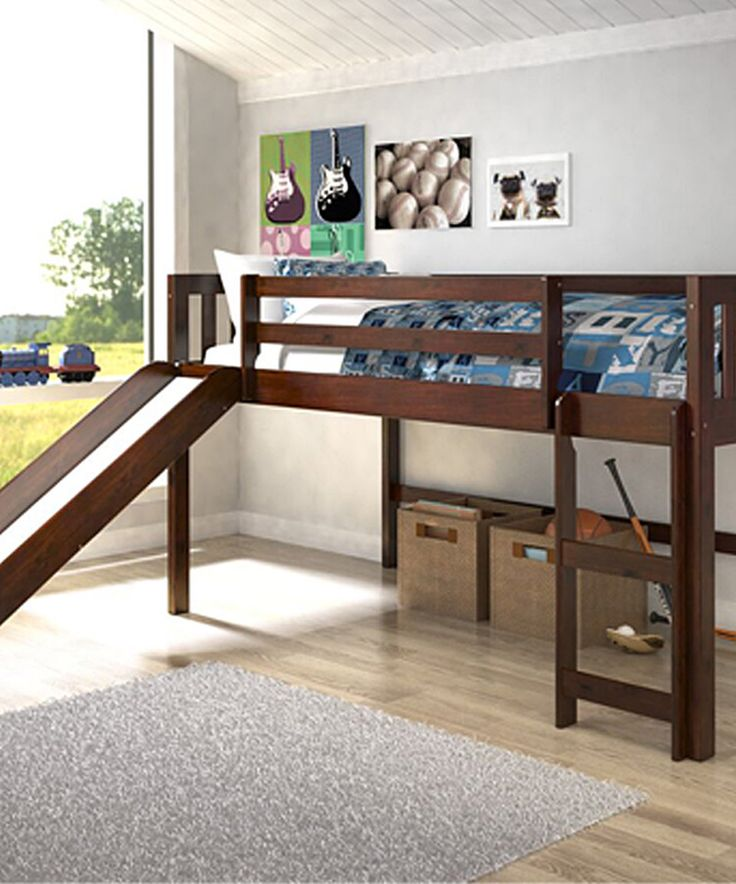 This Mission Low Loft Twin Bed & Slide by Donco Kids is perfect! #zulilyfinds