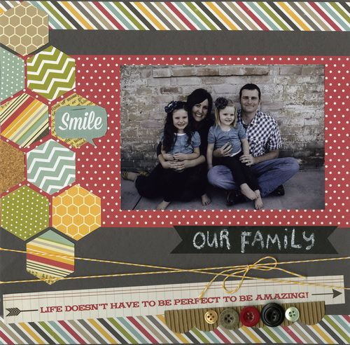 #bazzill #layout #scrapbooking - Need to get. Hexagon punch!!