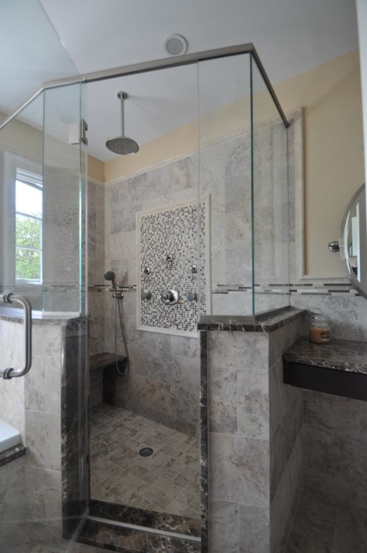 17 best images about bathroom ideas on pinterest double for Stand up shower bathroom designs