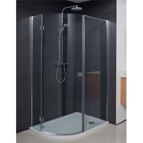 Simpsons - Design Offset Quadrant Single Hinged Door Shower Enclosure - 1000 x 800mm