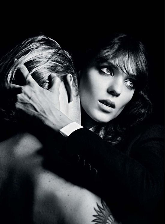 Kati Nescher for Saint Laurent by Hedi Slimane AW12 campaign
