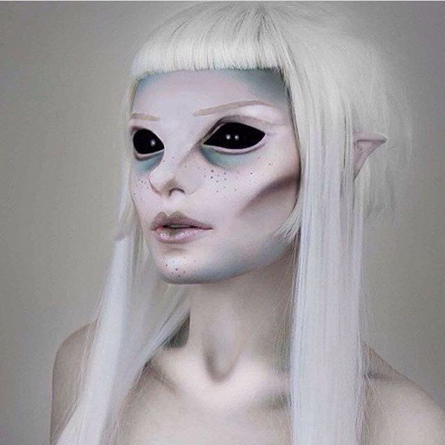 Amazing but creepy makeup job!