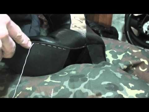 ремонт обуви (прошивка по низу подошвы) - YouTube