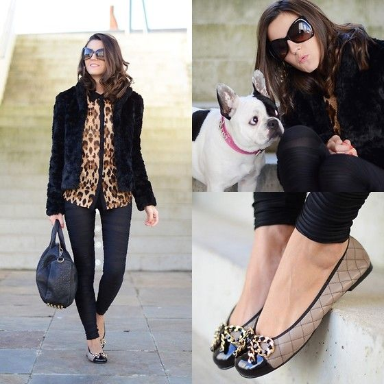 I love neutrals and skinny pants, but the french bulldog completes the look for me!