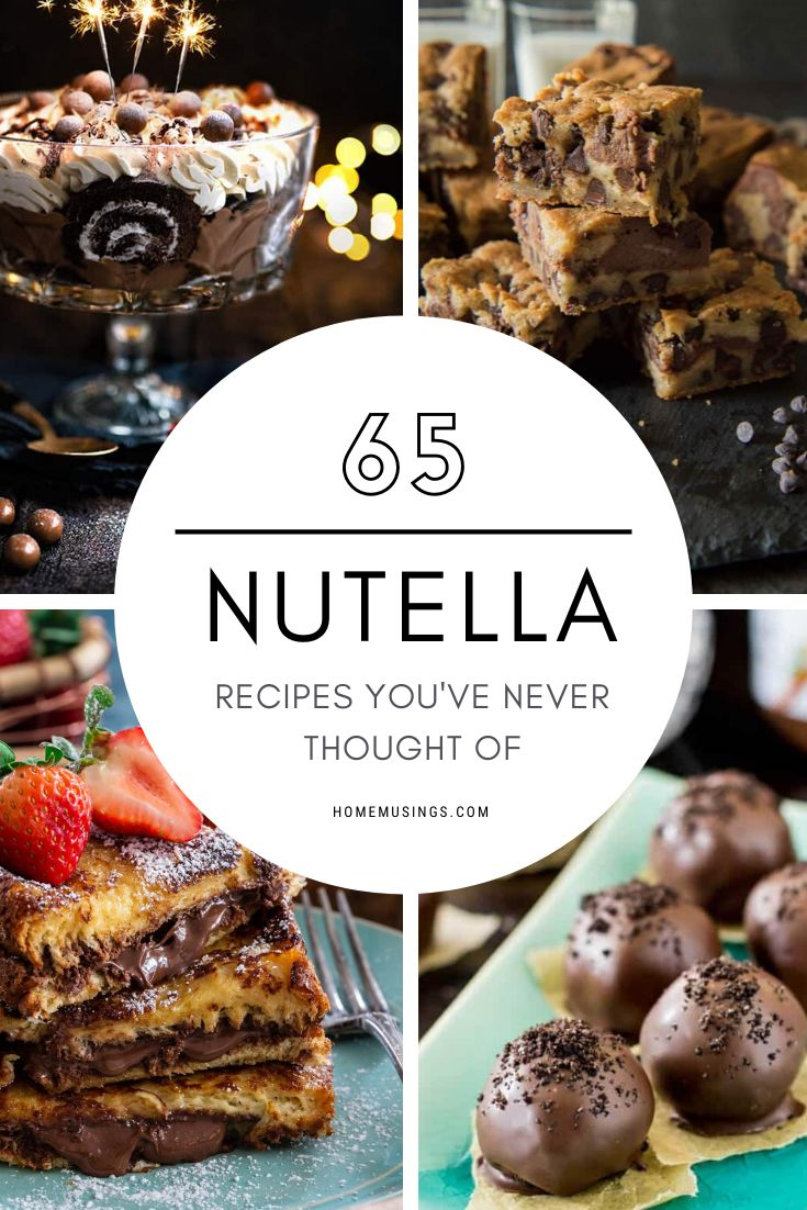 Everyone's favorite hazelnut spread has more delicious uses than you've ever imagined! Try these 65 incredible Nutella r…