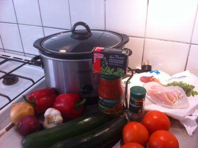 Linn idag: Kycklinggryta Provencale i Crock Pot