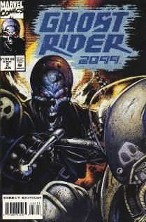 "I think That ghost rider 2099 is a little bit better than the original....I love to see the stuff that the writers came up with for ""the future"""