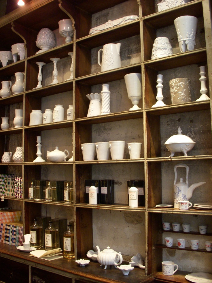 inside the Astier de Villatte shop in Paris!