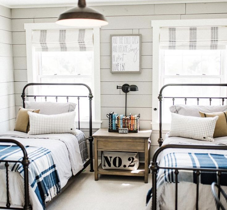 shared boys rooms room twin beds