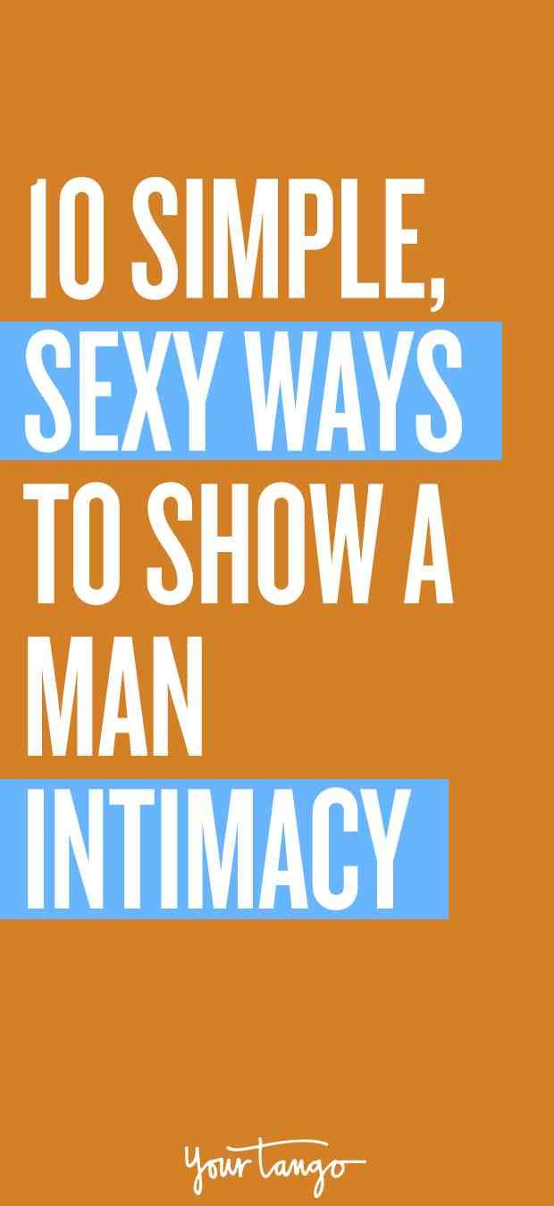 How to show intimacy in a relationship