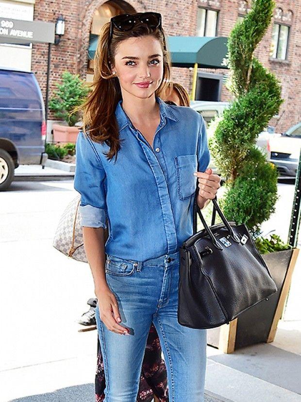 miranda kerr style: Miranda Kerr's Secret To Dressing Up A Casual Look via @WhoWhatWear
