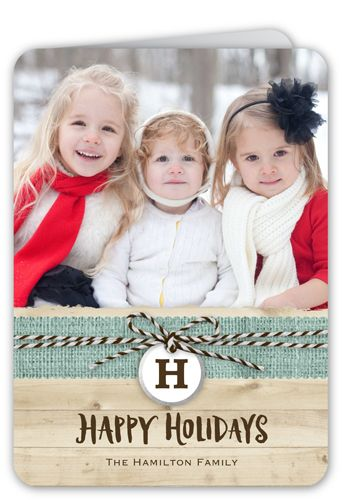 Happy Burlap Band 5x7 Folded Card by Stacy Claire Boyd