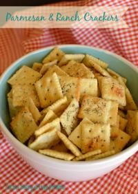 Parmesan & Ranch Crackers on MyRecipeMagic.com. These are buttery, cheesy and seasoned with ranch...the perfect snack!