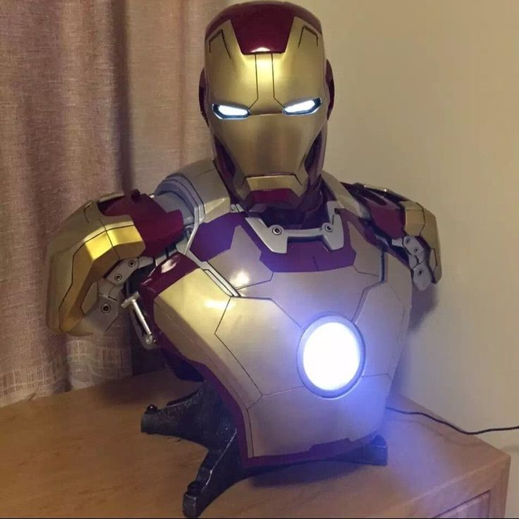 Details about 1/1 Scale Life Size Iron Man MK42 Bust Mark ...