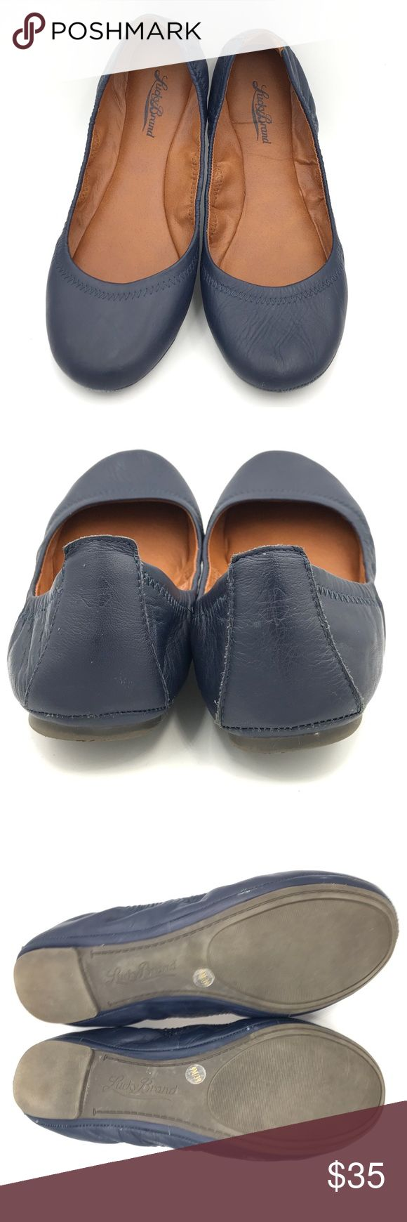 "Lucky Brand Emmie Navy Blue Ballet Flats Lucky Brand ""Emmie"" navy blue ballet flats in very good used condition. Lucky Brand Shoes Flats & Loafers"