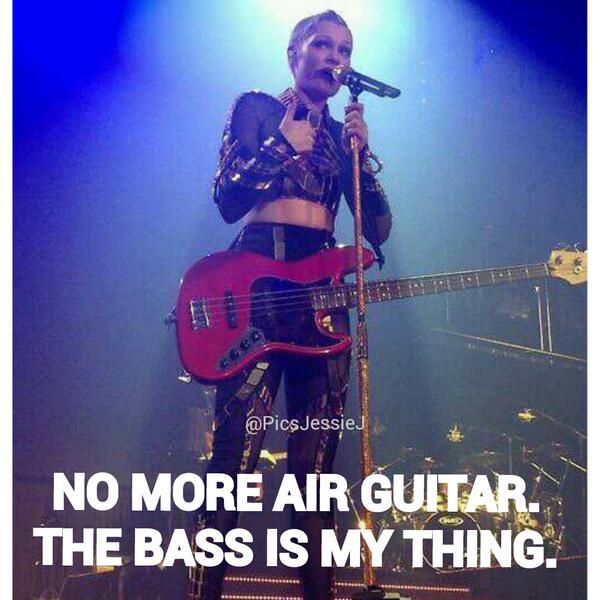 Oh she does know what a base guitar is... #awkward BUT OMG THIS PHOTO IS AMAZING