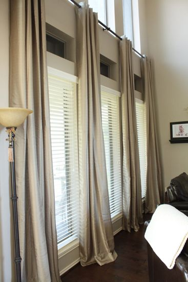 Long Living Room Curtains for under $30.  Awesome website for window treatments!