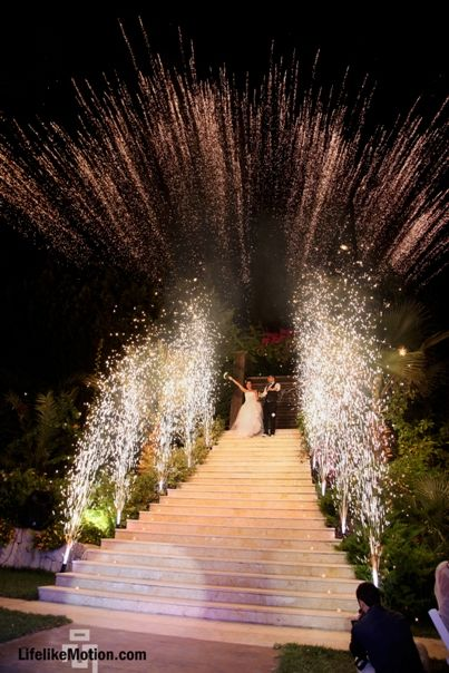 #Wedding #Fireworks #Entrance