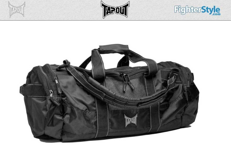 TapouT MMA Equipment Bag – Black & Grey http://www.fighterstyle.com/tapout-mma-equipment-bag/