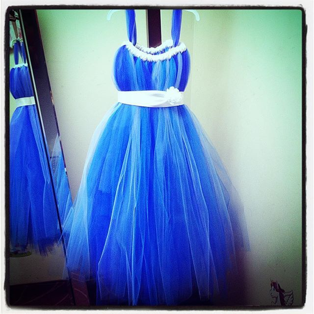 Never too #blue for a #tutu! This fab custom creation can't wait to go home with our client! Order yours at lilmissdressup.com