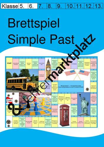 board game  brettspiel zum simple past für die 5  6