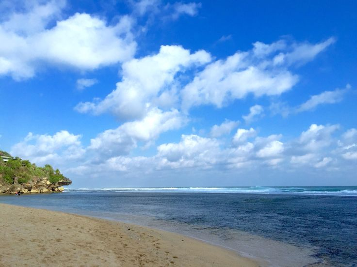 Sundak Beach, Yogyakarta . Blue Sky . Indonesia