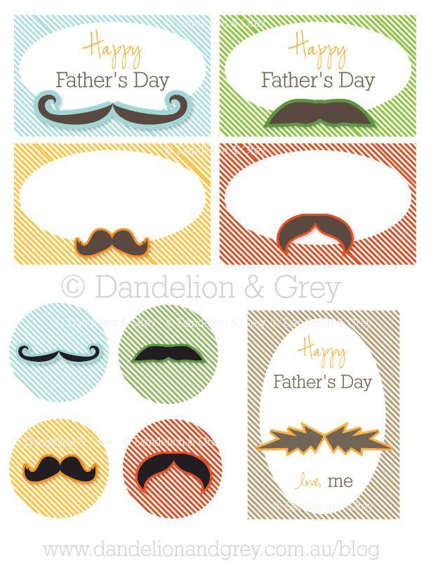 Moustache Party Printables