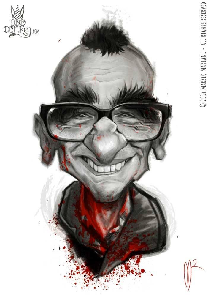 Caricature of Martin Scorsese by Marzio Mariani #Celebrity_Caricatures #Oddonkey #martin_scorsese