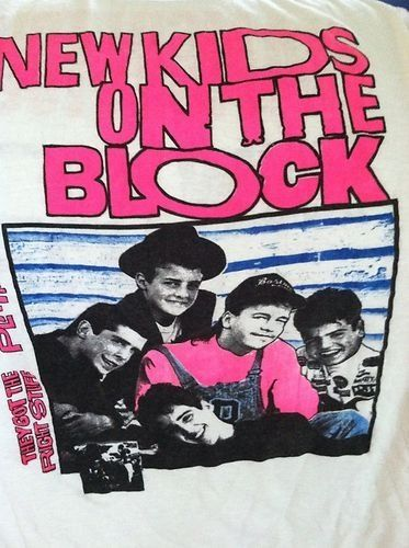 New Kids on The Block T Shirt Vintage from 1980s | eBay