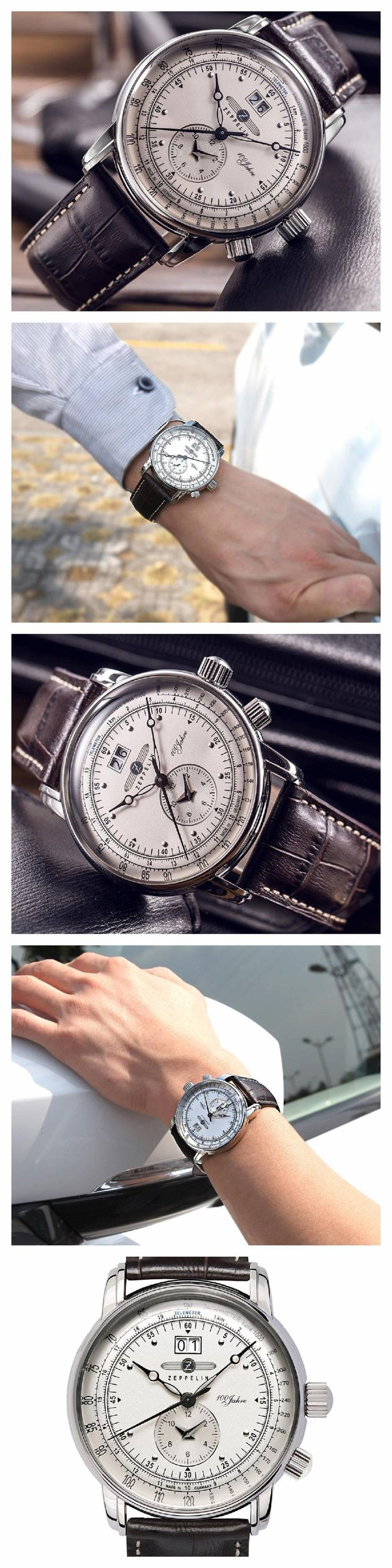 The German adventurer: GRAF ZEPPELIN Dual Time Big Date 100 Years. Style and precision. In ordnung.  #GRAFZEPPELIN  #KhaValeri  https://ro.pinterest.com/KhaValeri/    kha_amz_ZEPdualtime0905_v14
