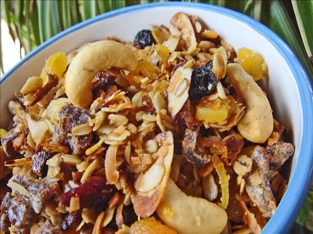 Ina s Homemade Granola from Food.com: This is Ina Garten's recipe (The Barefoot Contessa) and I think it is delicious. However, I have never made any of her recipes that I didn't think was delicious. I love this over yogurt.