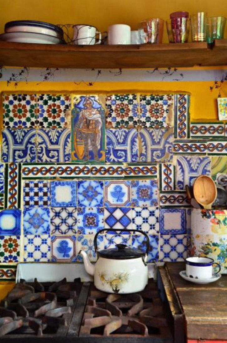 """These dazzling kitchen tiles are from our feature """"Guest Appearance"""""""