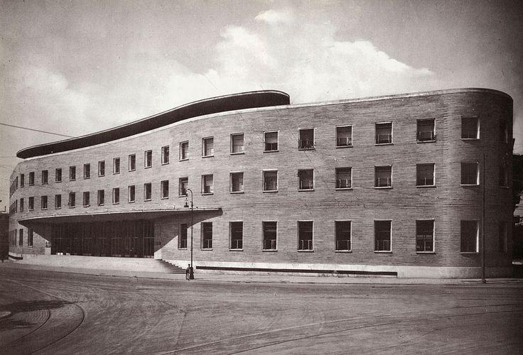 IT, Roma, Post Office @Piazza Bologna. Architects Mario Ridolfi and Mario Fagiolo, 1933.