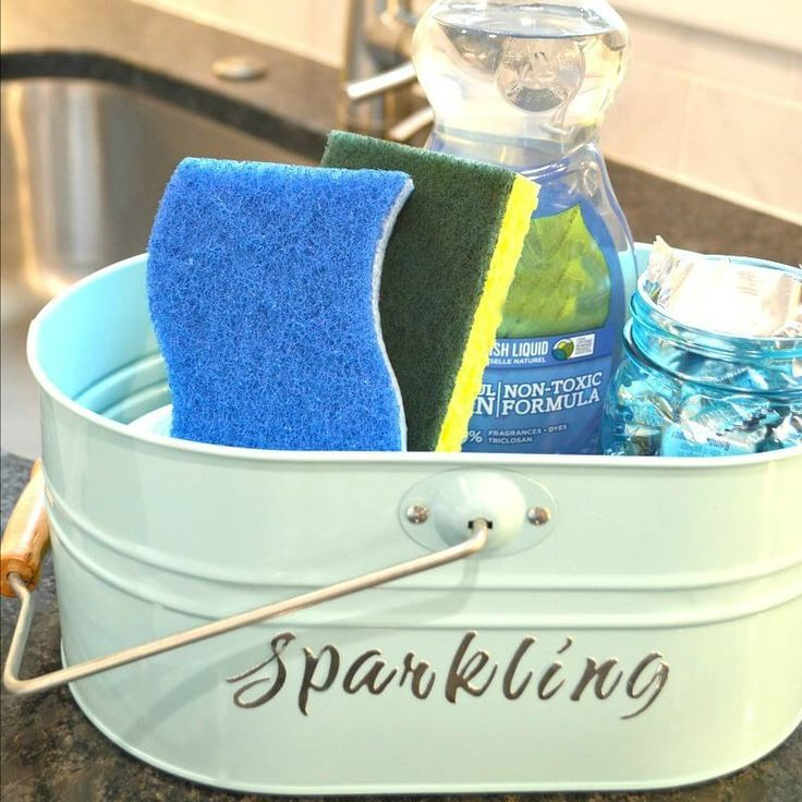 Organizing your kitchen sink with a dish cleaning caddy tote makes kitchen chores much easier. Here are 3 easy ways to make your tote match your decor.