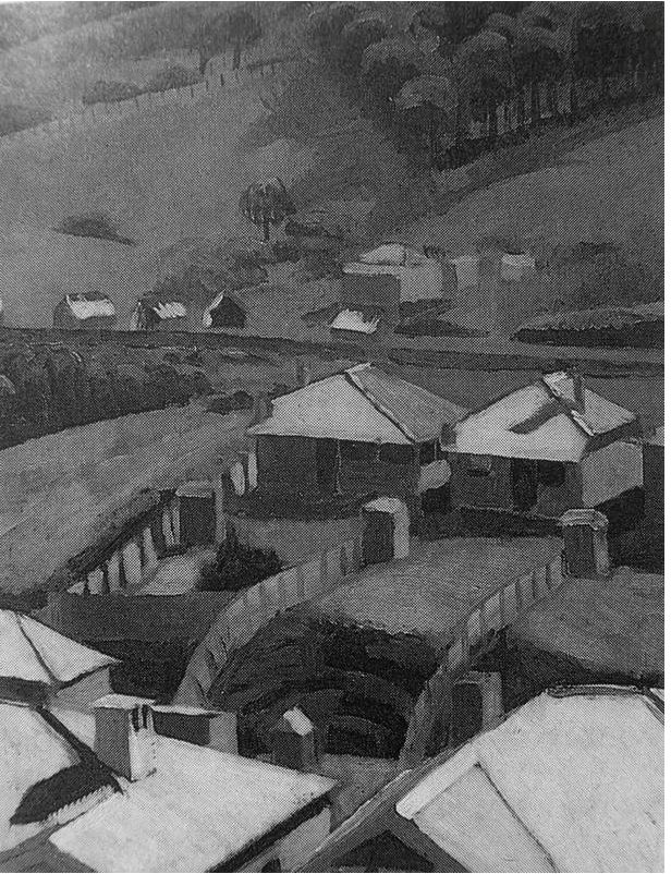"""Austi tin roofs"" by Aletta Lewis (1928)"