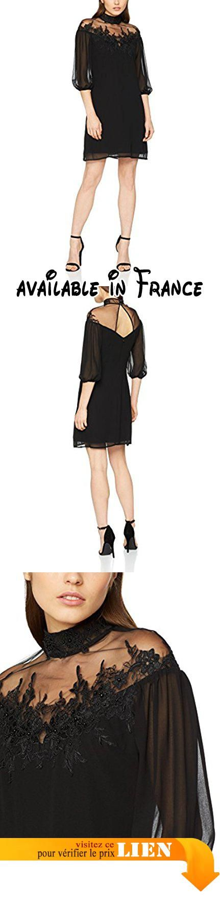 B0773VDRRK : Little Mistress L7976WIA Robe Cocktail Manches 3/4 Femme noir 38 (Taille fabricant: 10).