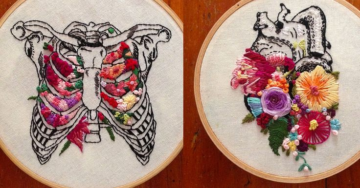 Floral Anatomy Embroideries by InherentlyRandom | Colossal | Bloglovin'