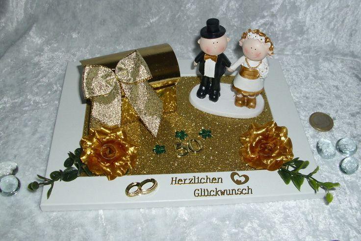 Geldgeschenke - Geldgeschenk Gutschein Goldene Hochzeit Brautpaar - ein Designerstück von Magic-4-You bei DaWanda