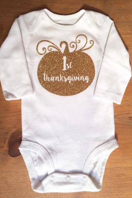 Baby's First Thanksgiving Swirly Pumpkin Glitter shirt by TwoStitchinMommas on Etsy https://www.etsy.com/listing/254756202/babys-first-thanksgiving-swirly-pumpkin