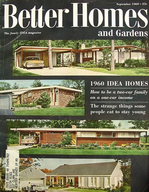 1960 Better Homes And Gardens Idea Homes Nothing Like The Council House I  Lived In For